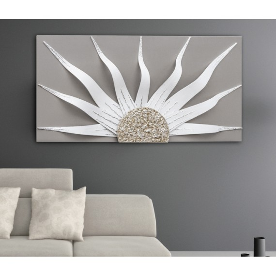 Pannello in rilievo Pintdecor Solar Storm White