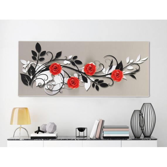 Pannello quadro design Pintdecor Le Quattro Rose