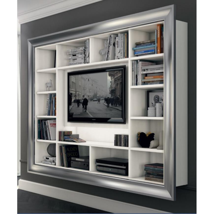 Porta TV classico sospeso con cornice Colombini Casa L233 ...