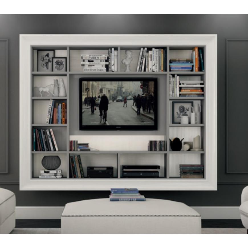 Pareti Attrezzate Con Cornice.Porta Tv Classico Sospeso Con Cornice Colombini Casa L233