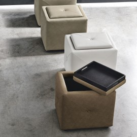 Pouf di design con contenitore in ecopelle Target Point Ludovic