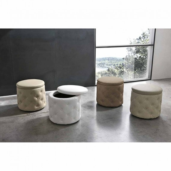 Pouf poltrona di design in ecopelle Target Point Pupo