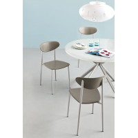 Sedia in plastica e metallo Connubia Calligaris Graffiti