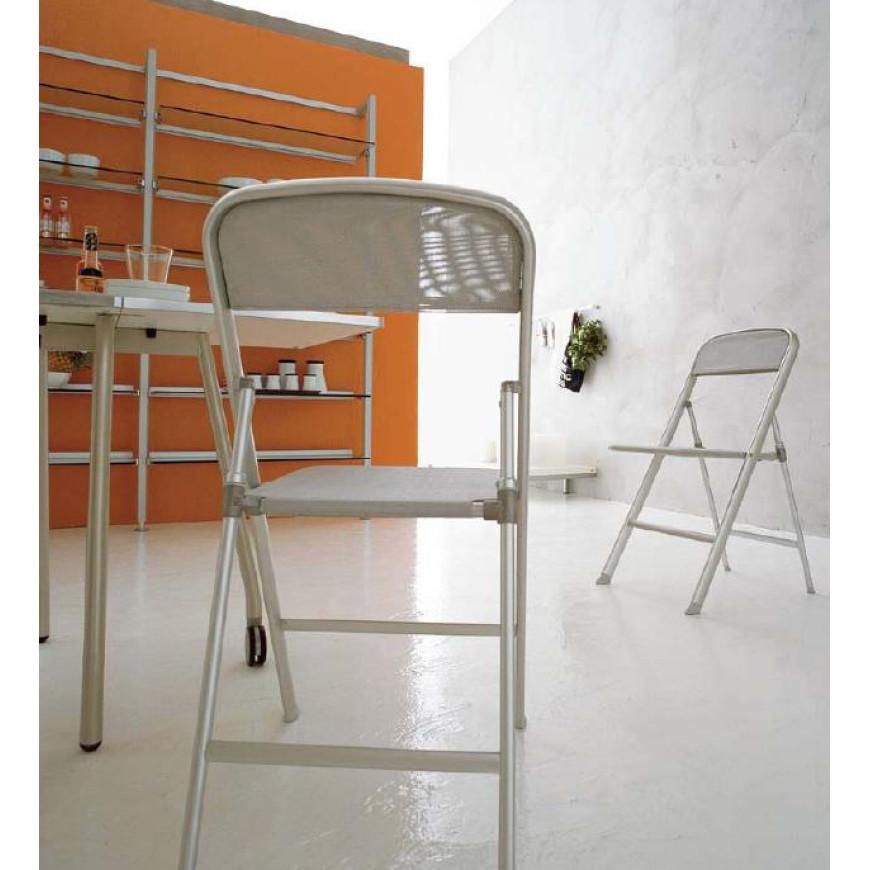 Sedia pieghevole in alluminio da cucina Connubia Calligaris Alu