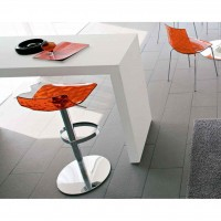 Sgabello regolabile e girevole di design Connubia Calligaris Ice