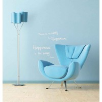 Sticker metallico adesivo Happiness