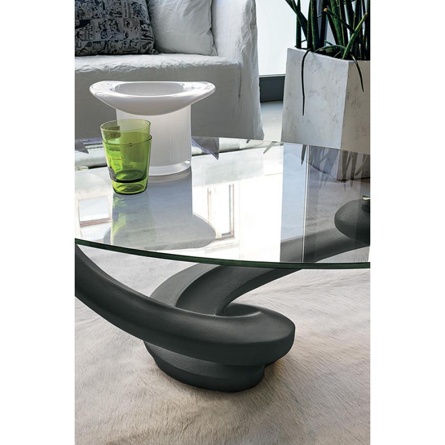 Tavolino ovale in vetro Target Point Tango | ABITAREarreda.it