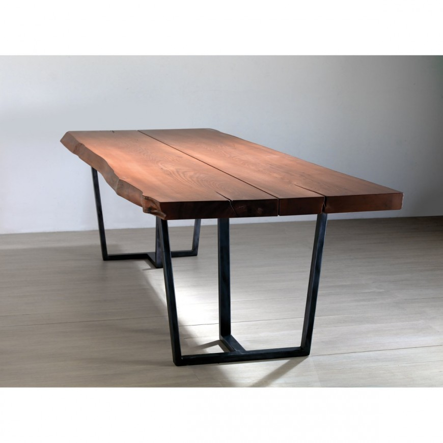 Tavolo design antico legno olmo massello Belloni Ariston