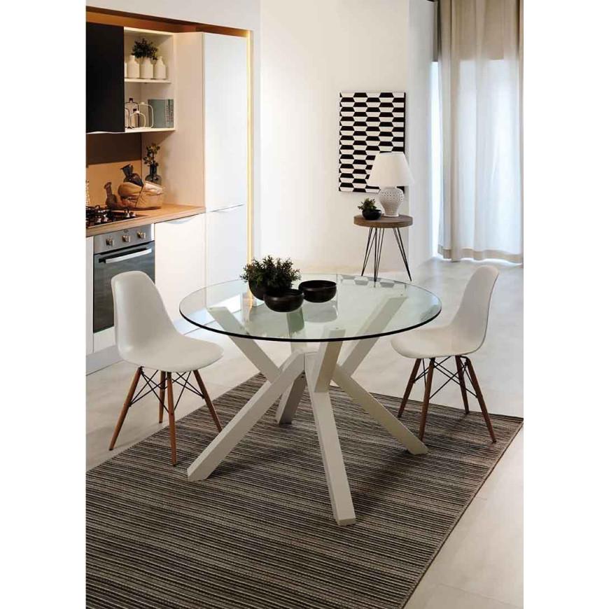 Tavolo rotondo di design Spider | ABITAREarreda.it
