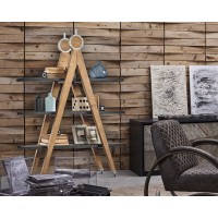 Libreria di design in legno vintage Dialma Brown DB004524