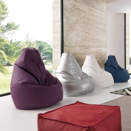 Moderno pouf a sacco Molly in ecopelle