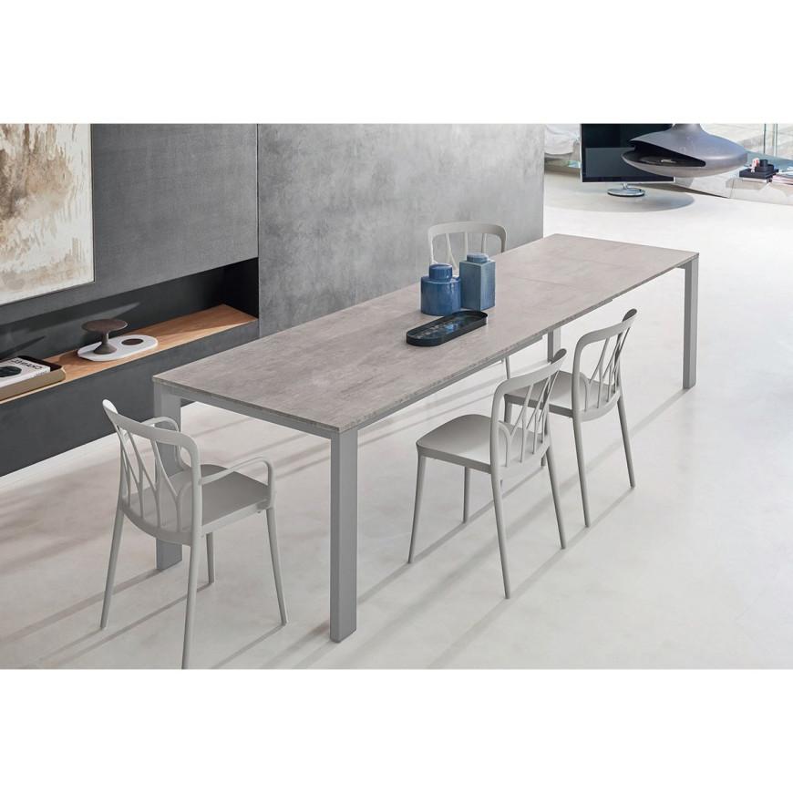 Moderno tavolo allungabile Bontempi Casa con struttura in metallo Tom
