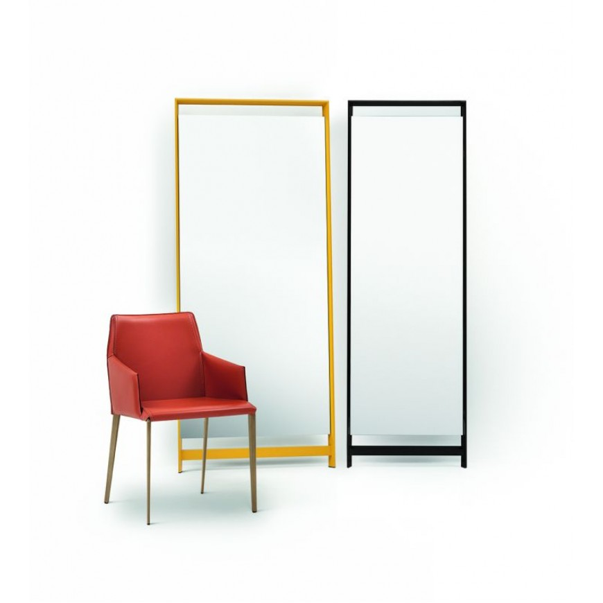Sedie Metallo E Cuoio.Sedia Di Design In Metallo E Cuoio Bontempi Casa Sally