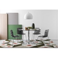 Sedia in metallo Connubia Calligaris L'eau