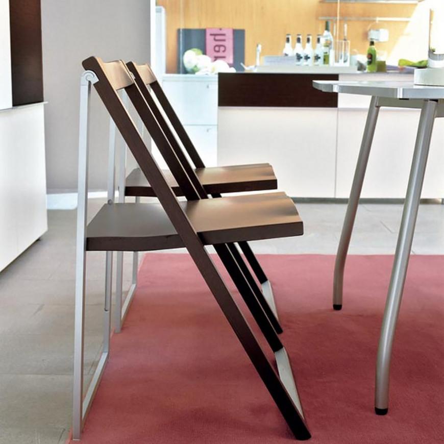 Sedia pieghevole in legno Calligaris Skip | ABITAREarreda.it